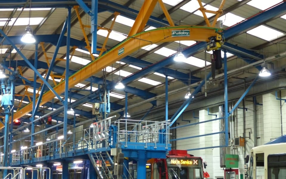Monorail Crane at Tram Depot