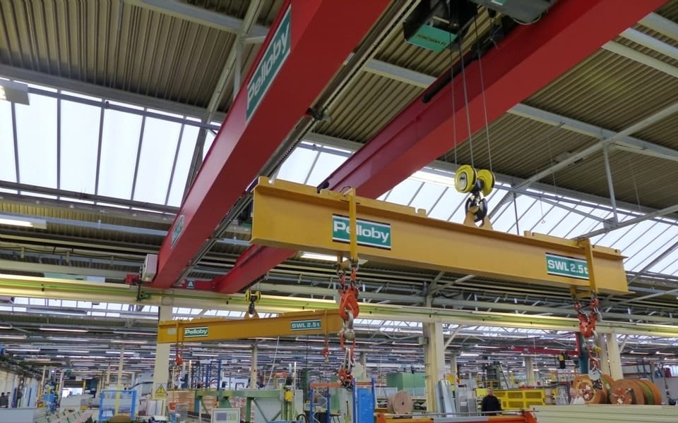Two 2.5 tonne Pelloby spreader beams