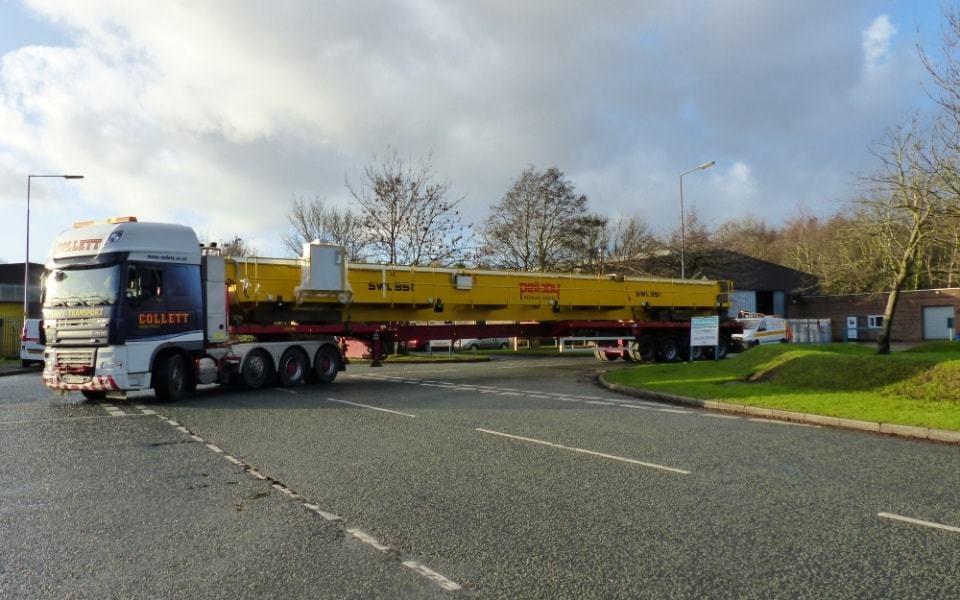 35 tonne double girder overhead leaving the Pelloby factory - 2