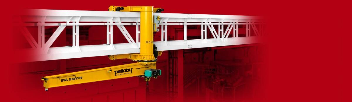 Special inverted travelling jib crane