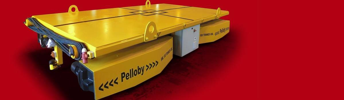 Pelloby banner – colour floor transporter