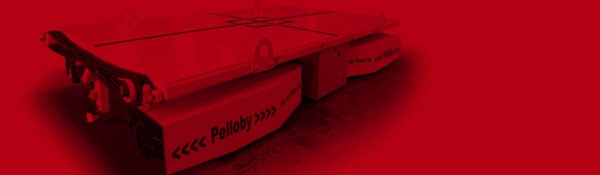 Pelloby banner – grey scale floor transporter