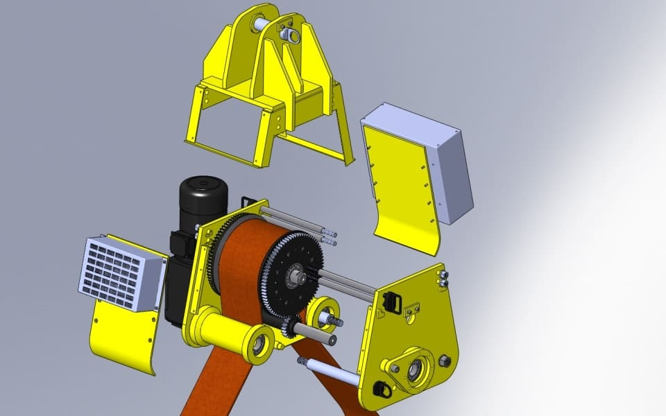 Pelloby Load Turning Units - Exploded View