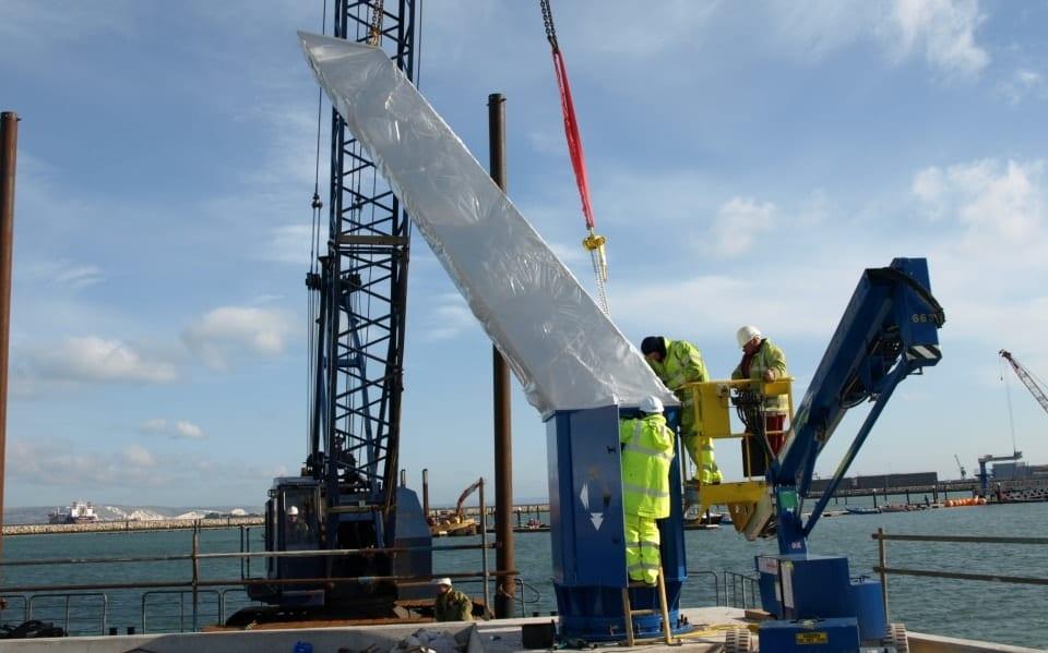 Installation of Pelloby outdoor jib crane