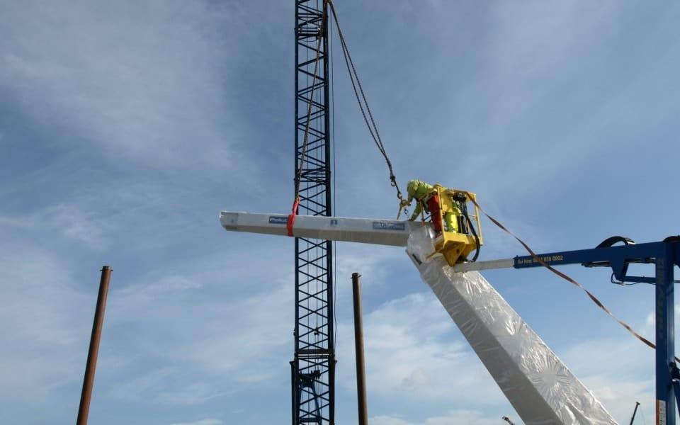Installation of Pelloby outdoor jib cranes