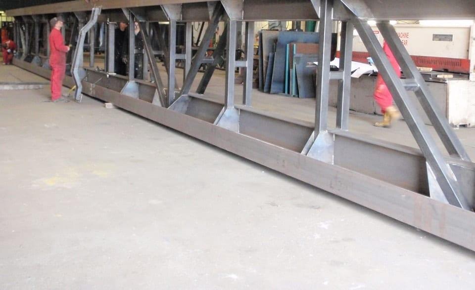 Inverted Jib Crane Gantry Rail in Production