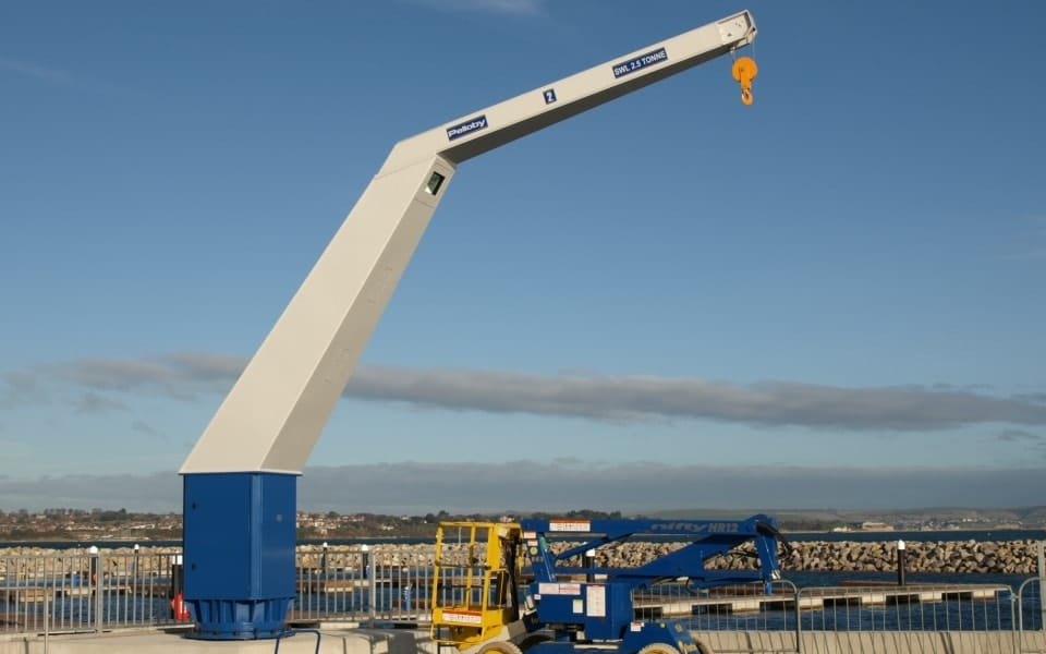 Jib Crane Usage : Weather resistant outdoor cranes built for the olympics