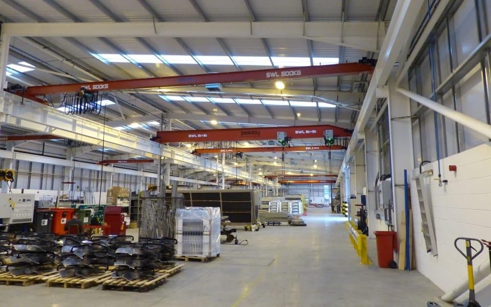 Kelvion installs new Pelloby beam cranes following fire