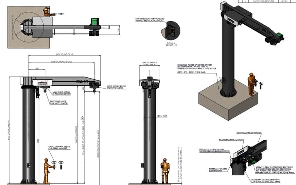 Yarmouth Jib Crane design