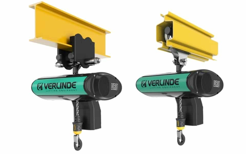 Verlinde Eurochain vr5 hoist manual trolley and trolley profile