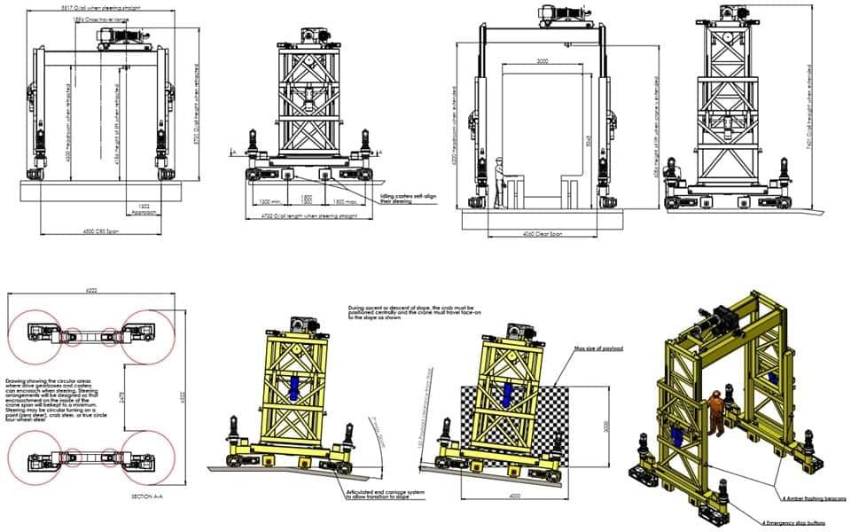 Special Gantry Crane Drawing