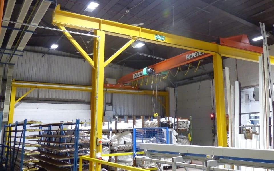New gantry steelwork crane refurbishment