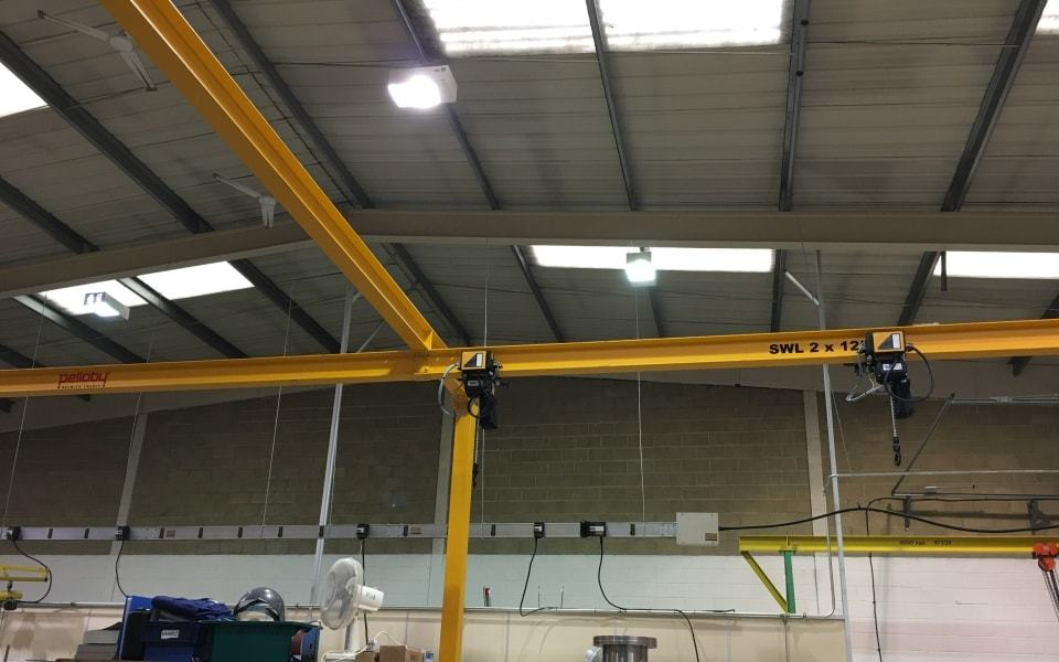 Pelloby Goal Post Monorail Crane