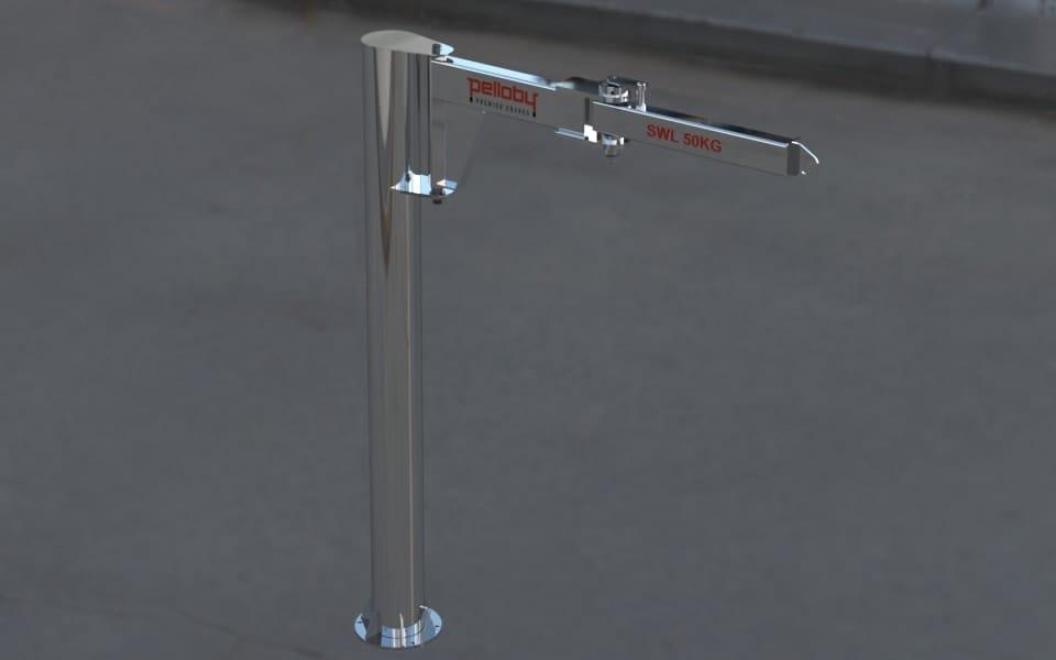 Pelloby Knuckle Jib Crane Stainless Steel