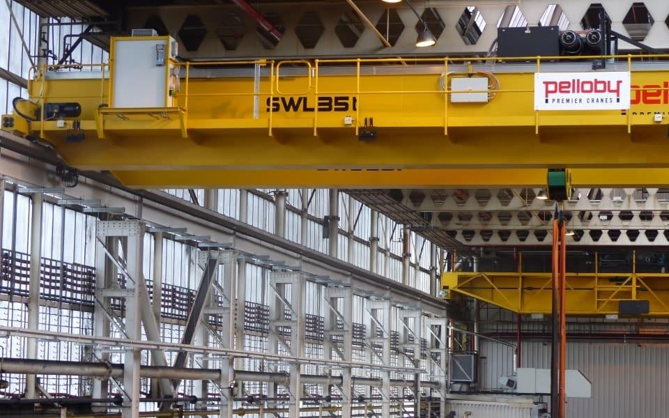 35 tonne Pelloby crane for BMW