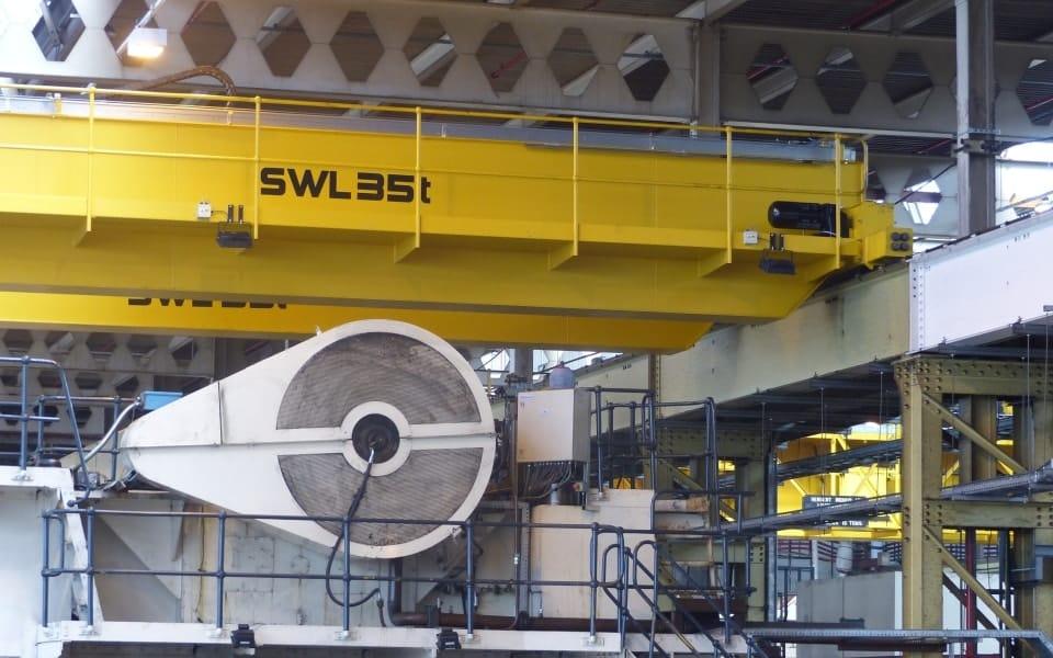 BMW press shop crane