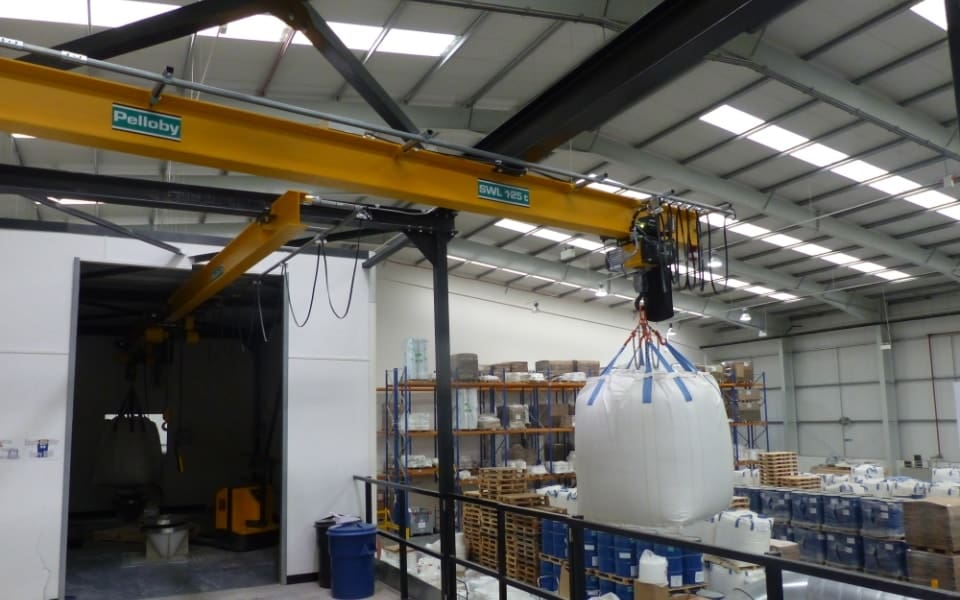 Material Handling Crane Forward Repair System : Multisorb improve safety practices with overhead monorail