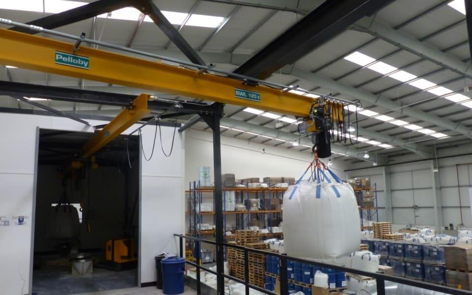 Monorail crane Pelloby at Multisorb