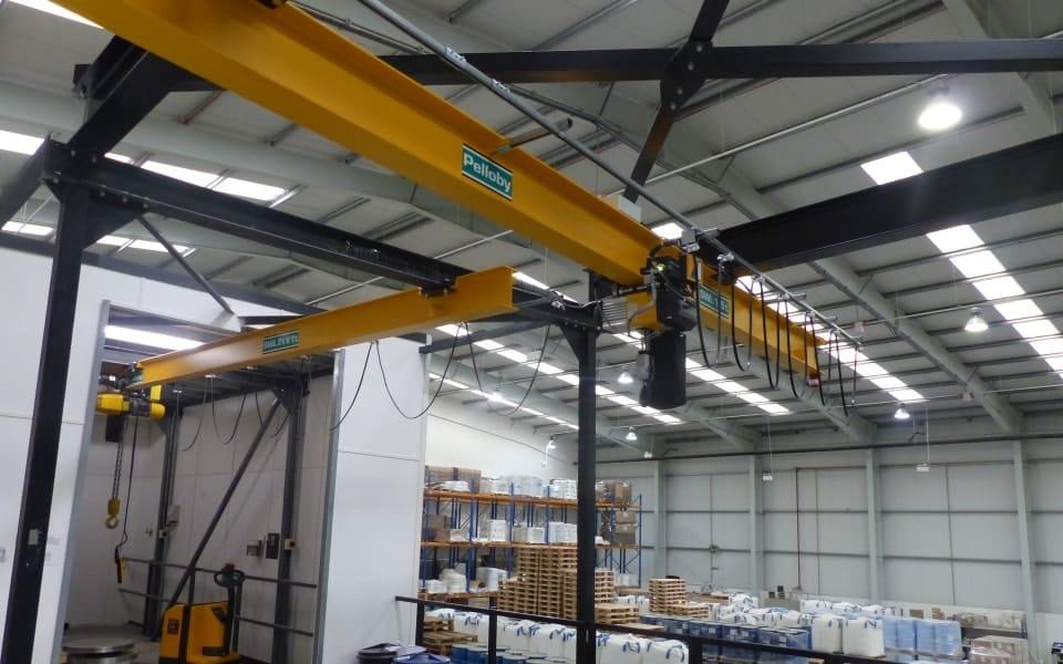 Multisorb overhead monorail crane Pelloby