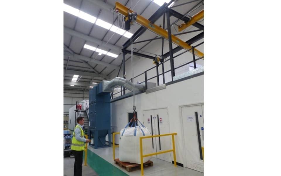 Multisorb overhead monorail crane
