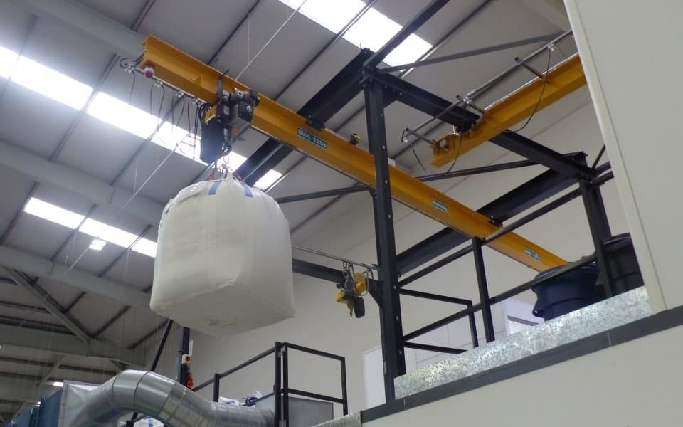 Overhead monorail crane