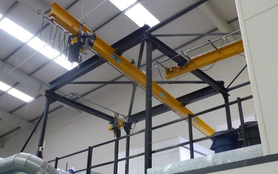 Pelloby multisorb overhead monorail crane