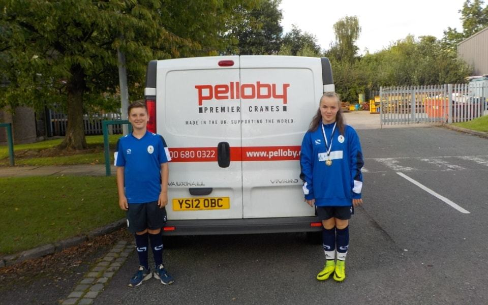 Pelloby sponsors AFC Telford players
