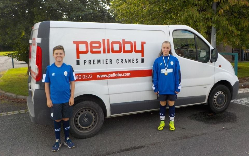 Pelloby sponsors AFC Telford players 2