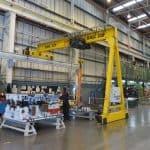 Pelloby Trackless Semi-Gantry Cranes