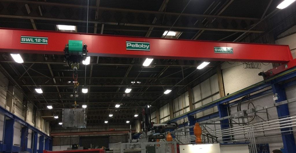 12.5 tonne overhead crane at Avalon Plastics