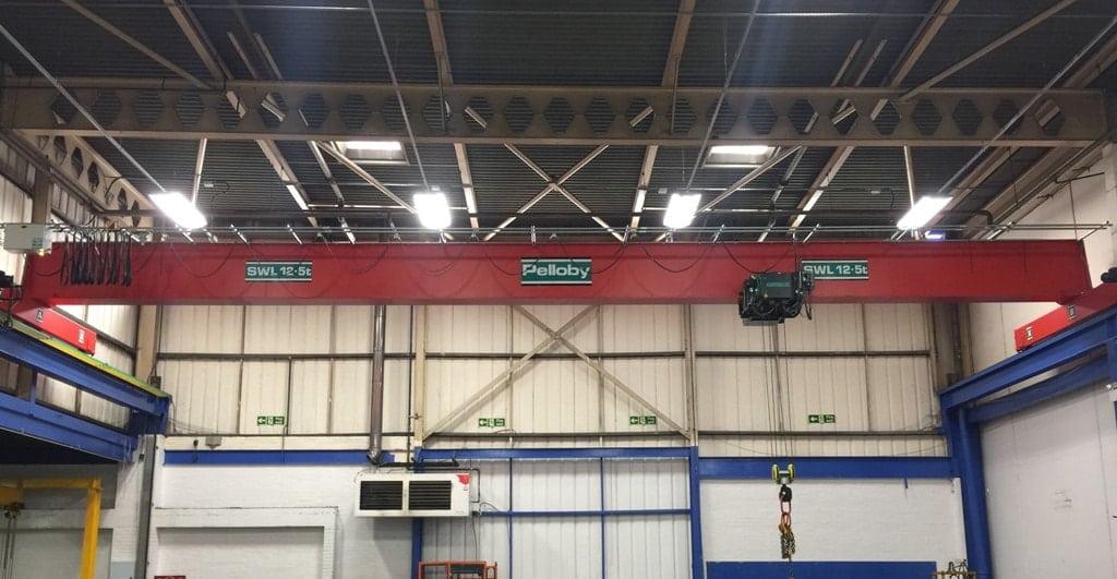 Pelloby 12.5 tonne overhead crane at Avalon Plastics