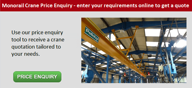 Monorail crane price enquiry button