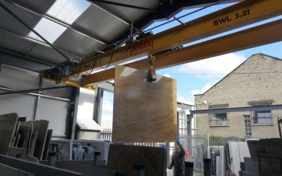 External Environment Overhead Crane at Avon Marble