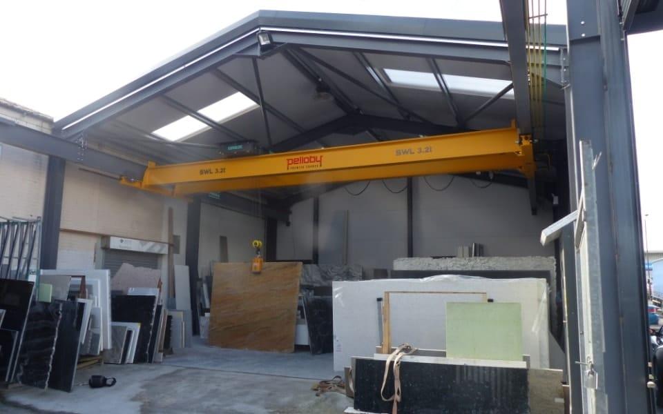 Overhead Crane at Avon Marble External Location
