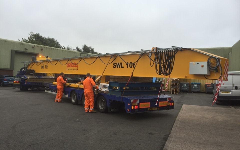 Pelloby crane for Goodfish in transportation