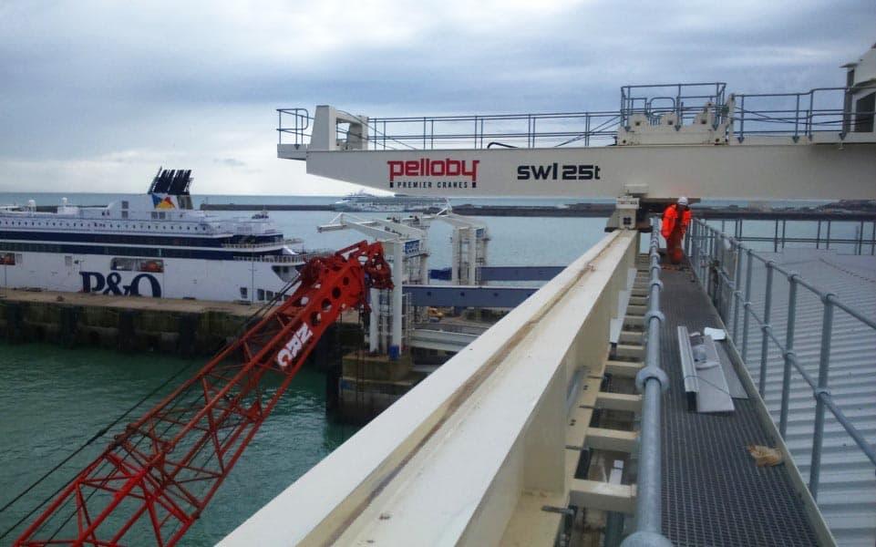 Pelloby 25 tonne crane at Dover Harbour
