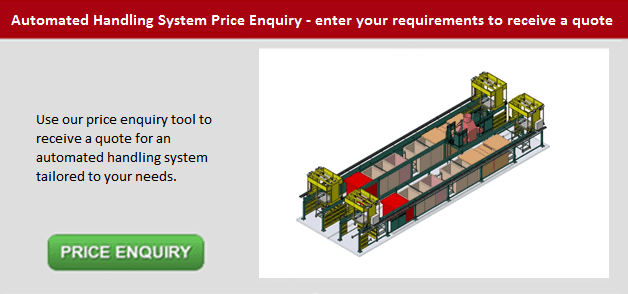 Automated Handling System Price Enquiry Button