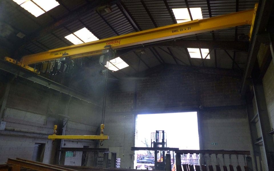 Stoke Galvanisers - Overhead Crane with Lifting Beam