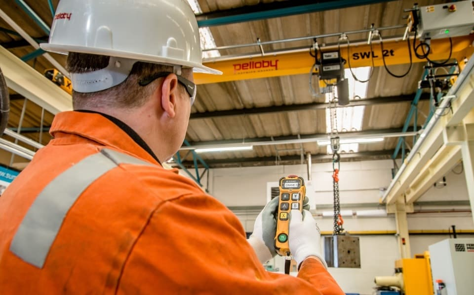 Pelloby Crane Service Engineer Using Remote