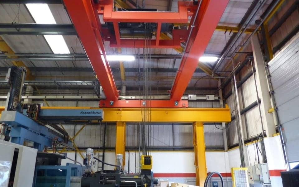Double girder 20 tonne crane automotive industry