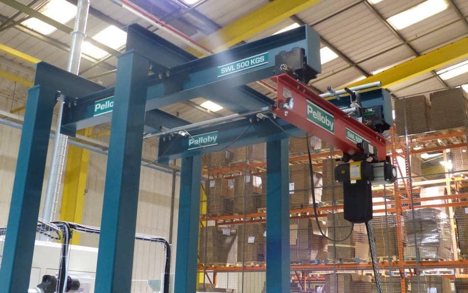 Freestanding Underslung Overhead Crane