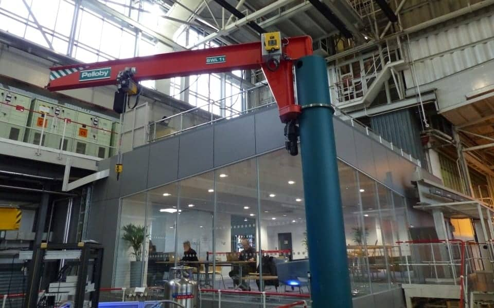 Motorised Slew Post Jib Crane