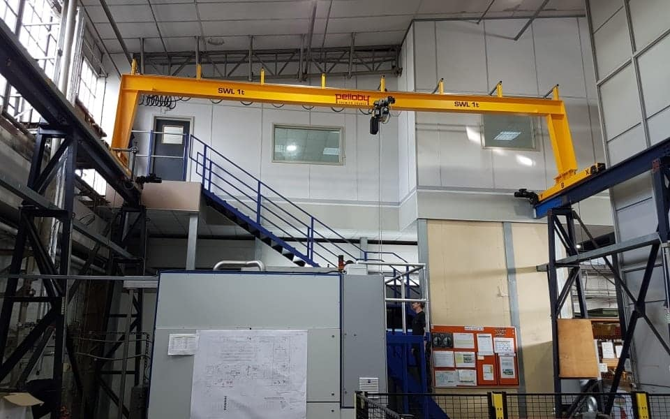 One Tonne Single Girder Overhead Crane
