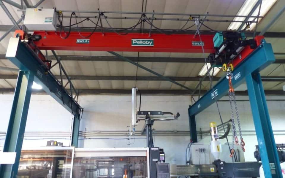 Overhead Crane on Gantry Steelwork