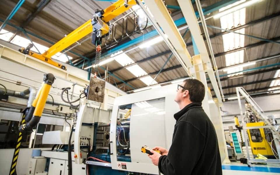 Three Pelloby Overhead Cranes for Polymer Training Centre