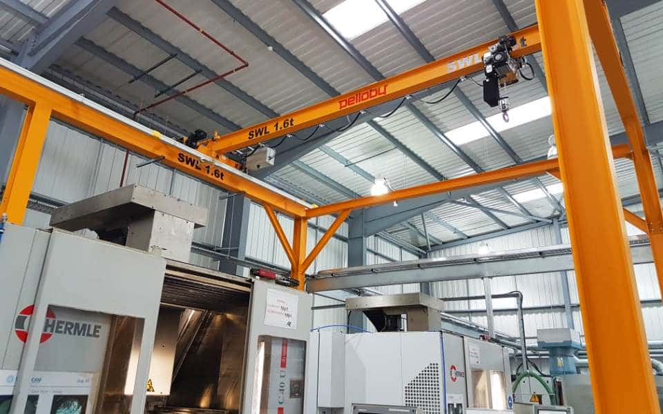 Pelloby Overhead Crane on Gantry Steelwork