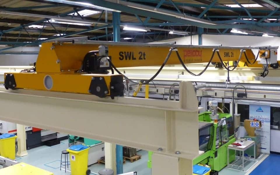 Training For Overhead Crane : Three pelloby overhead cranes for polymer training centre