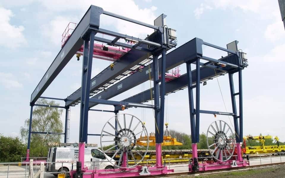 Large Gantry Crane Outdoors