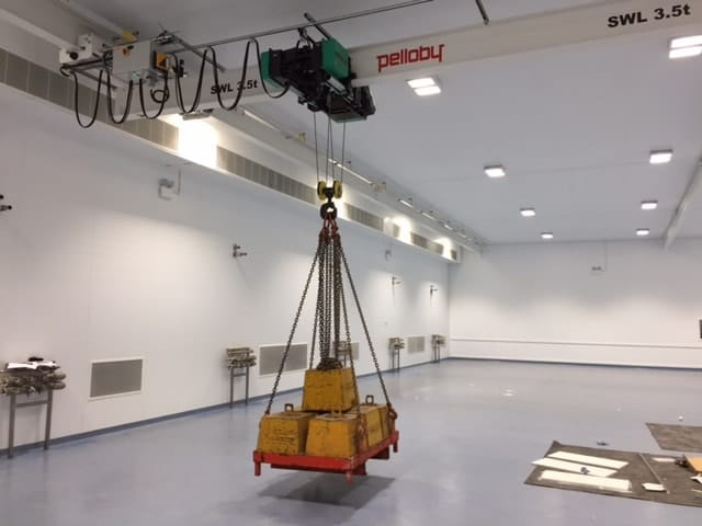 Pelloby Produce A Cleanroom Crane With Low Headroom Design