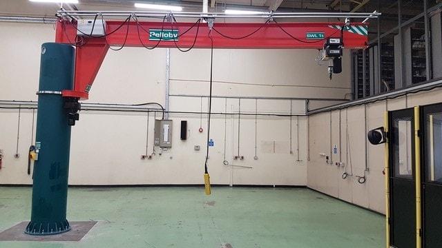 360 Post Jib Crane With Top Power Feed